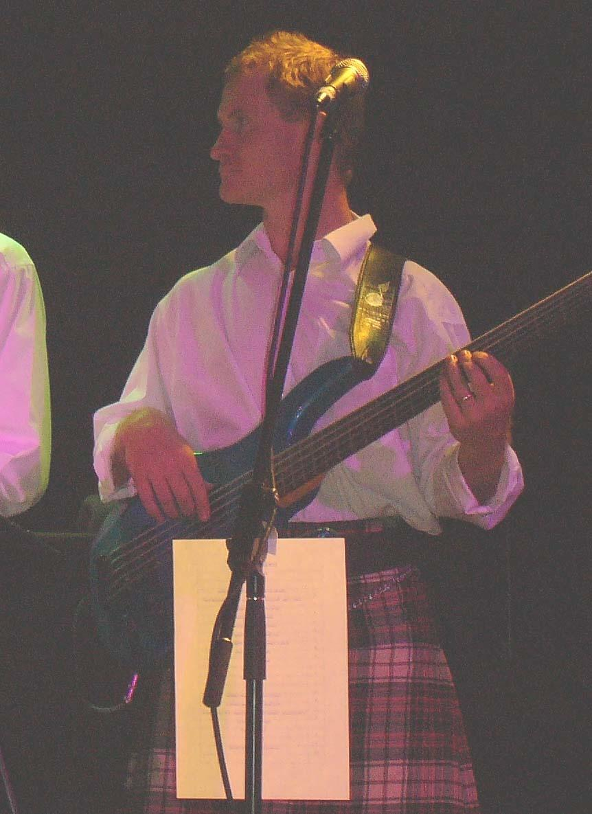 Huge playing bass with Bun' Ber E Celtic Bands on St Andrew's Day at Twin Towns.